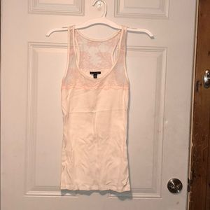 AE White tank with pink laced top - size M